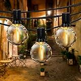 Guirlande Guinguette Extérieur, FOCHEA 9,5M Guirlande Lumineuse avec 28 Ampoules LED, Étanche IP44 pour Décoration Balcons, P