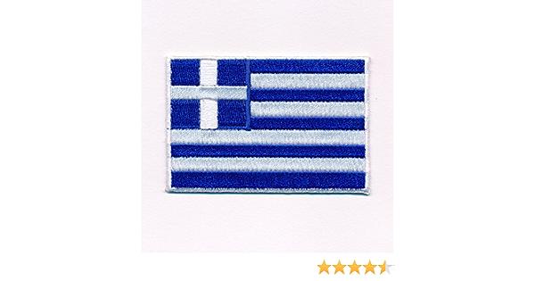 80 X 50 Mm Griechenland Flagge Athen Greece Patch Aufnäher Aufbügler 0637 X Küche Haushalt