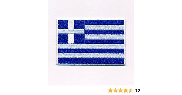 Hegibaer 40 X 25 Mm Griechenland Flaggen Athen Greece Patch Aufnäher Aufbügler 0637 A Auto