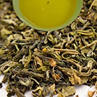Indian Tulsi (Holy Basil) Green Tea, 100gm (3.52oz) Herbal Loose Leaf Tea by Darjeeling Tea Boutique