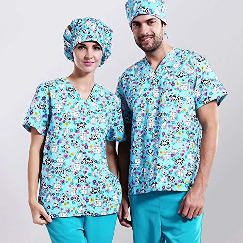 QZHE Medical uniform Krankenpflegeuniformen Medizinische Kleidung Schönheitssalon Zahnklinik Arbeit Einheitliche Medizinische Kleidung, L - Einheitliche Medizinische