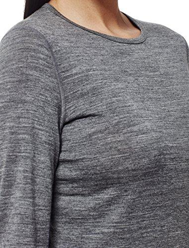 Icebreaker–Maglietta da donna Oasis, a maniche lunghe, girocollo, strato base Gritstone HTHR