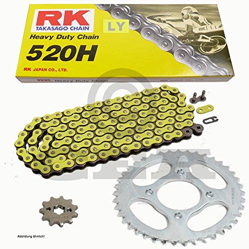 Preisvergleich Produktbild Kettensatz Derbi DRX 250 04-08,  Kette RK LY 520 H 94,  offen,  GELB,  14 / 40