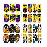 Nail Art Sticker!Elevin(TM) Halloween Skull Bone Nail Art Sticker Watermark Tattoos Nail Art Tips (A)