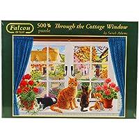 Falcon de Luxe - Through the Cottage Window Jigsaw Puzzle (500 Pieces)