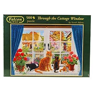 Jumbo- pcs Through The Cottage Window, Puzzle de 500 Piezas (611064)