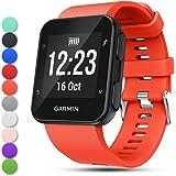 Feskio, bracelet de remplacement en silicone souple, réglable, pour la montre GPS Garmin Forerunner35