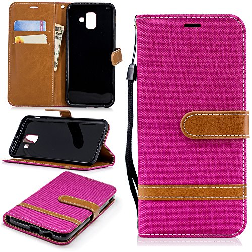 Preisvergleich Produktbild Happon,  Samsung Galaxy A6 2018 Case Wallet Leather,  Samsung Galaxy A6 2018 Case with Card Holder and Kickstand,  Samsung Galaxy A6 2018 Wallet Case with Leather Case,  Leather Case Case Cover for