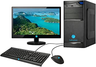 """Gandiva Assembled Desktop - Core 2 Duo, G31 Motherboard, 4GB DDR2 RAM, Without DVD Drive, 15.6"""" Monitor (320GB)"""