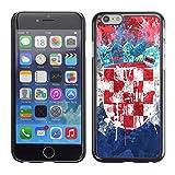 FJCases Kroatien Kroatische Flagge Farbe Harte Hülle Schutzhülle Tasche für Apple iPhone 6 / 6S