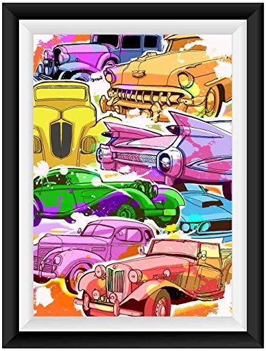 Oldtimer Auto Musclecar Poster Plakat Für Das Wohnzimmer Kunstdruck Bild    Ungerahmt   INDIVIDUELLE GRÖßE Tolle Geschenkidee Mit Flair   Fine Art  Print ...