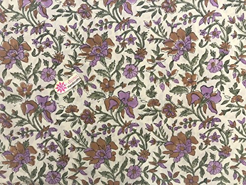 Unstitched Cotton Printed Dress suit Fabric Sanganeri Handmade Dress material Hand Block Print Mughal Butta