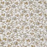 Fabulous Fabrics Tüllspitze Lurex Ranken – Weiss/Gold