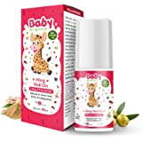 BabyOrgano Hing Roll On for Colic, Constipation and Indigestion in Infants and Kids -100% Ayurvedic (40ml)