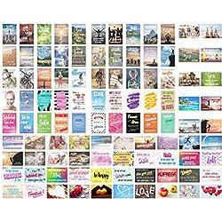 Set 100 Postkarten Leben & Momente mit Sprüchen - Karten mit Spruch - Geschenk - Geschenkidee. Geburtstagskarten, Geburtstag, Liebe, Freundschaft, Leben, Motivation, lustig. Postcrossing