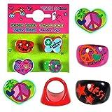 12 x filles anneaux amusant bijou sac soirée faveurs jouets pochette surprise chasse au trésor différents modèles...