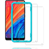 Ibywind [2 Pack] Displayschutzfolie für Xiaomi Mi Mix 2S, Bubble Free Installation Applikator gehärtetem Glas Displayschutzfolie [Anti-Fingerprint] für Xiaomi Mi Mix 2S-transparent