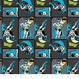 Camelot DC Comics II Batman en tissu à coudre de carbone (Prix au mètre)