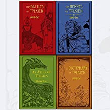 tolkien david day collection 4 books set (the battles of tolkien, an atlas of tolkien, a dictionary of tolkien, the heroes of tolkien [flexibound])
