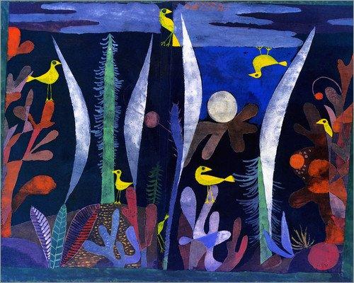 Poster 50 x 40 cm: Landscape with yellow birds di Paul Klee - stampa artistica professionale, nuovo poster artistico