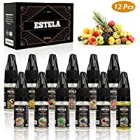 E-líquido, Estela 12 x 10 ml E Liquido Vaper 80VG/20PG E-Líquido Cigarrillo Electronico Vape E Liquid Set para Cigarrillos Electrónicos E-Juice Collection, No Nicotine