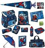 Spiderman Schulranzen Set 21tlg. Scooli Campus Up mit Sporttasche Regenschirm