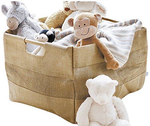 JoJo Maman Bébé - Cesta de almacenaje (tela de yute)