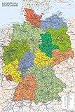 empireposter - Landkarten - Germany Map - Größe (cm), ca. 61x91,5 - Poster, NEU -