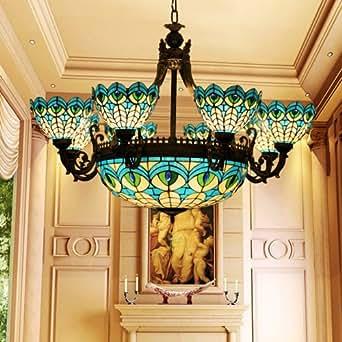 lampen kronleuchter im tiffany stil glaskunst retro. Black Bedroom Furniture Sets. Home Design Ideas