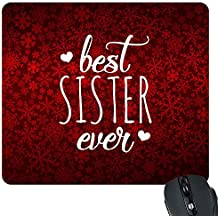 YaYa cafe Red and White Printed Mousepad