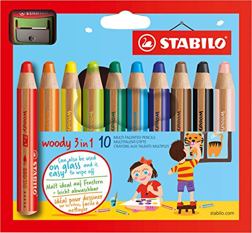 STABILO woody 3 in 1 - 10er Pack mit Spitzer