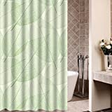 Guohome Duschvorhänge Baum verlässt Textur für Badezimmer Dusche Vorhang 36