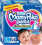 Mamy Poko Extra Absorb Pants L Diapers (64 Pieces)
