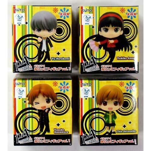 Preisvergleich Produktbild Persona 4 seed set all Yukiko Amagi, Yosuke Hanamura, Yu Ming on four mini kid Figure vol.1 Satonaka Chie (japan import)
