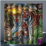 Brauch Tiger 100% Polyester Fabrik Duschvorhang Shower Curtain 167 Zentimeters x 183 Zentimeters