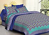 Jaipuri Multicolor Rajasthani Abstract Print Cotton Double Bedsheet with 2 Pillow Covers (Bed Sheet LxB: 90x108 inches, Pillow LxB: 18x26 inches) Amazon Rs. 549.00