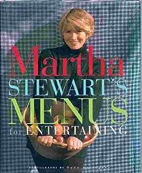 Martha Stewart's Menus for Entertaining by Martha Stewart (1994-11-17)