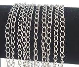 Gliederkette Link Kette Metallkette Schmuckkette 5mm Altsilber Meterware zur Schmuckherstellung von Halsketten Armband DIY Basteln K1