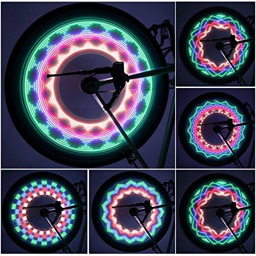 OUTAD Wasserdicht 30-LED Fahrrad Felge Lichter für MTB Rad Gummireifen (20 Zoll Felgen Und Reifen-pakete)