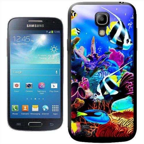 Motivo: mare tropicale con coralli e pesci-Cover rigida, per modelli Samsung, plastica, Samsung Galaxy S4 Mini (i9190)
