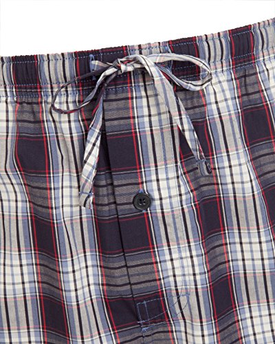 Jockey® Kurzer Schlafanzug Blau-Rot-Weiß Kariert