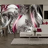 murando - Fototapete 400x280 cm - Vlies Tapete - Moderne Wanddeko - Design Tapete - Wandtapete - Wand Dekoration - Abstrakt Blumen Lilien Diamant a-A-0236-a-d