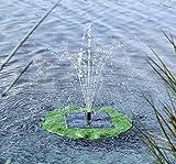SIDCO Solar Springbrunnen Teichpumpe mit Fontäne Wasserfontäne Seerose Wasserspiele
