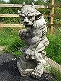 Beschützer-Wasserspeier–Detaillierte Kunststein-Gartenstatue / Skulptur