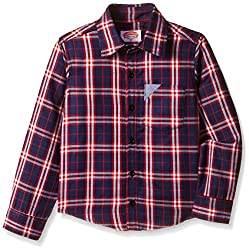Nauti Nati Boys Shirt (NAW16-808_Red and White_10Y)