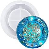 Aschenbecher, Kunstharz, 11,9 cm, DIY Silikon Kristall, Aschenbecher, runde Einbett-Form, Handarbeit, Kunstharz, Epoxidharz, transparent, Formwerkzeuge, Heimdekoration