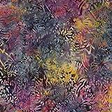 Stoff mit Batikmuster, Nachtblau, 100% Baumwolle, für Patchwork, Quilten & Basteln, Preis pro Viertel-Quadratmeter