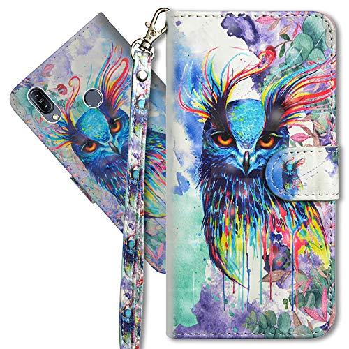 Asus ZB633KL Schutzhülle/Brieftasche für Asus ZB633KL Premium PU Leder Case von CotDINFORCA 3D kreatives Painted Effect Design Full Body Schutzhülle für Asus ZB633KL, B PU- Peacock Flower Series 8 (Alte Flip-telefone Motorola)