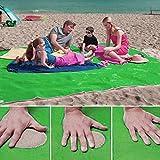 Sand Strand Matte, SENYANG Beach Blanket Picknick Decke Schmutz & Staub verschwinden Strand Matte einfach zu reinigen Perfekt für den Strand, Picknick, Camping, Outdoor Events (Grün)