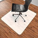 HENGMEI Bodenschutzmatte Bürostuhlmatte Bodenschutz Semi transparent Bürostuhlunterlage Bodenmatte Stuhlunterlage Schutzmatte, 90x120cm